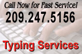 TYPING SERVICES